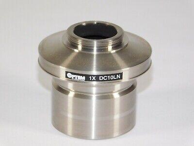 Optem 1x Dc10ln Leitz Leica Lab Microscope Head Lens Camera Coupler Adapter Unit