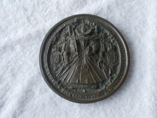 """Vintage The Great Seal of Queen Elizabeth I Plaque 5 1/4"""" Diameter"""