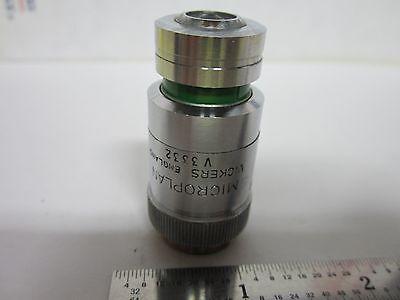 Microscope Objective Vickers Uk England 40x Met Metallograph Optics Bing5-23