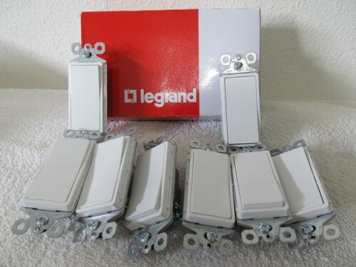 18X LEGRAND TM870-W White Decorator Switch 1 Pole 15 Amp 120/277VAC NEW - LOT