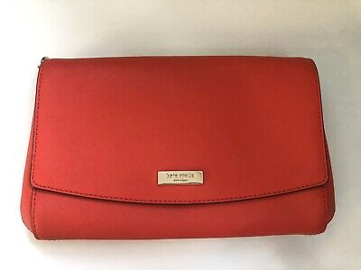 kate spade new york Red Leather Clutch Bag.