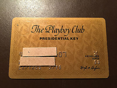 Playboy Club 1976 Presidential Key Card - Hugh Hefner signature - Rare !