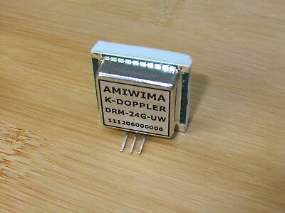 Microwave Doppler Transceiver 24 Ghz K-band Flat Antenna Wide Beam Circular Rhcp