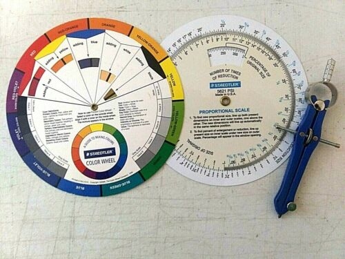 Staedtler Color Wheel & Proportional Scale & Compass