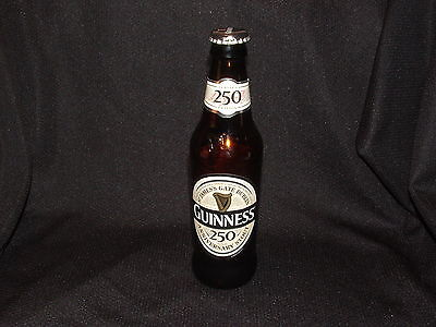 RARE 2009 GUINNESS 250 LIMITED EDITION ANNIVERSARY STOUT BEER EMPTY BOTTLE & CD
