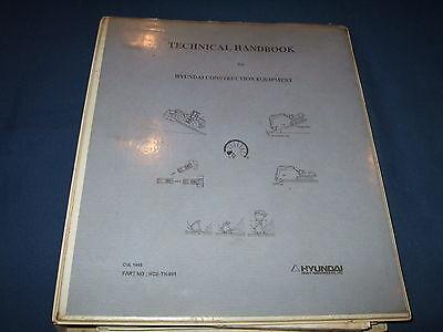 Hyundai Technical Handbook For Construction Equipment Excav Loader Book Manual