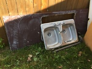 Free counter, sink, and cabinets