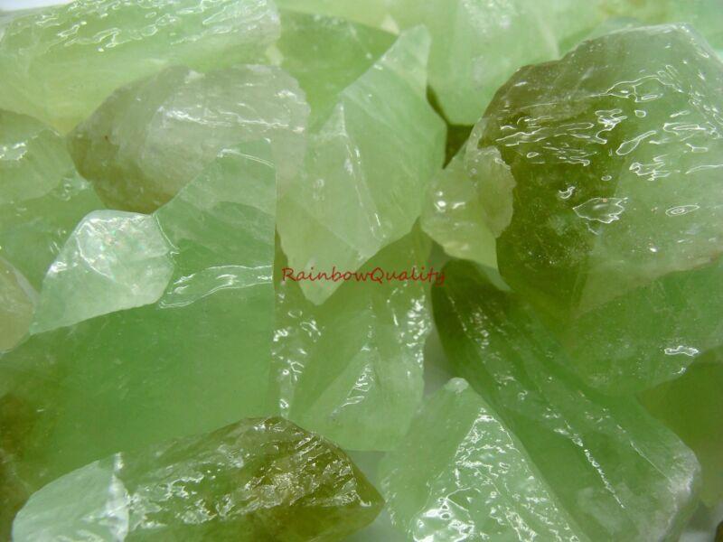 GREEN CALCITE Rough Rocks - 1 Lb Lots - Tumbling, Crafts, Cabbing, NICE