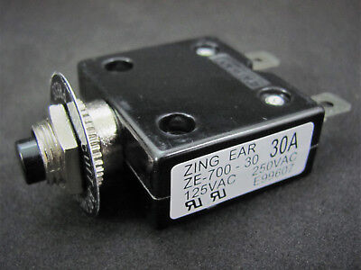 30a 125 250v Push-button Circuit Breaker Wquick Connect Term