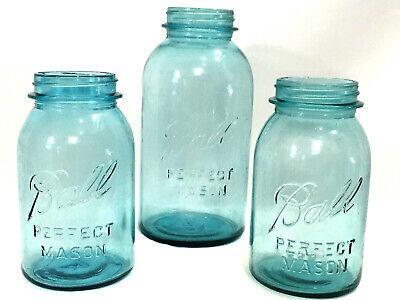 Vintage Ball Perfect Mason Jars | Blue | Lot of 3 | 2 x 32oz  #4 & 1 x 42oz #2](4 Oz Mason Jars Wholesale)