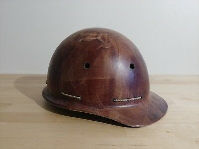 Vintage Soviet Ussr Protective Construction Builder Miner Helmet 50s