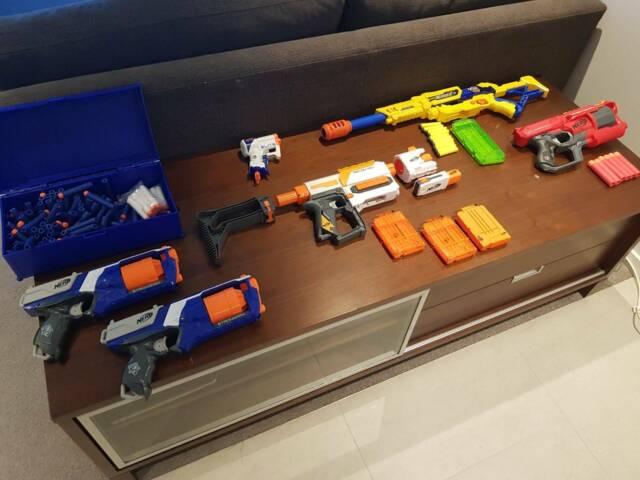 Nerf Guns Collection Toys Indoor Gumtree Australia