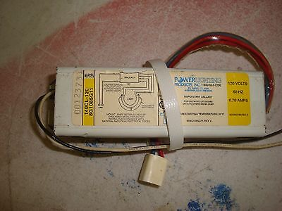 Used Power Lighting 140cl 120 8g1085g11 Ballast Free Shipping