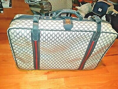 """AUTHENTIC VINTAGE Gucci Monogram Luggage Suitcase! 31 x 19 x 9"""" ! FREE SHIPPING!"""