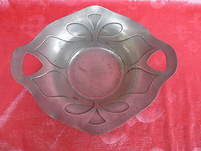 Beautiful, Old Zinn-Schale__Bincit Tin __Art Nouveau __