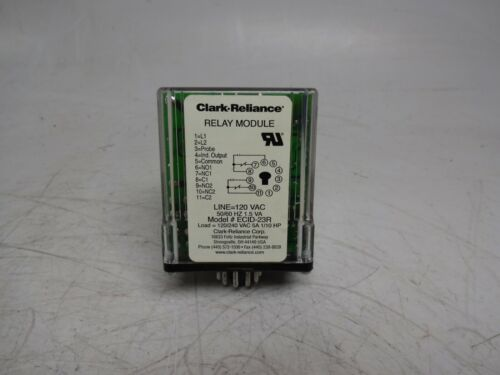 Clark-Reliance ECID-23R Relay Module with Relay Outputs 120 VAC Ecid23R