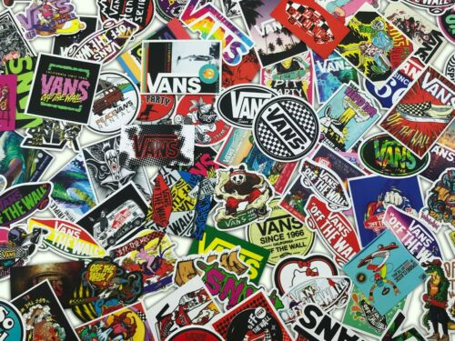 100 PCS Vans Skateboard Stickers bomb Vinyl Laptop Luggage Decals Sticker Lot
