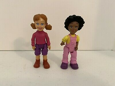 "2 Different Fisher Price Loving Family Dollhouse(?) Figures Girls 3 1/2"" AA"