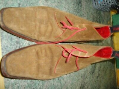 Mens Jeffery West Tan Suede Brouge Boots Size 9