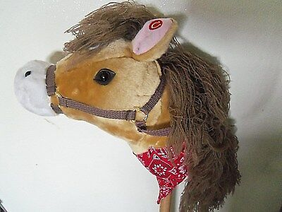 Plush Stick Pony - Animal Alley plush Stick Horse Pony w/galloping & neighing sounds