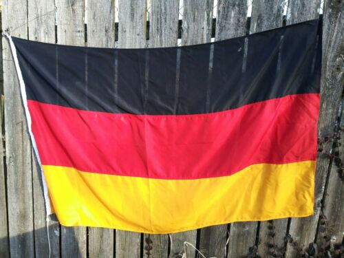 "Vintage Cotton Stitched 60"" X 38"" Germany Flag NICE!"
