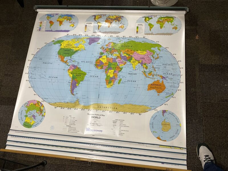 Nystrom 5 Layer Hanging School Maps 1NP67