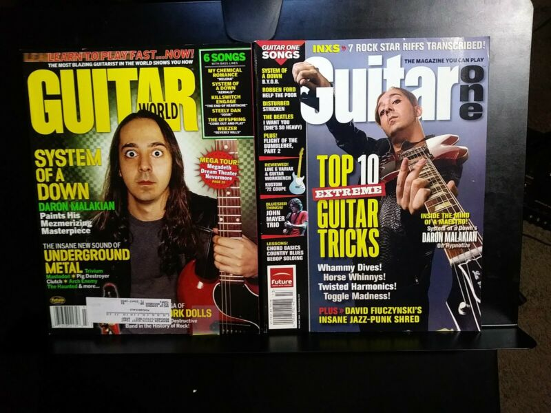 SYSTEM OF A DOWN Guitar Magazine COLLECTION DARON MALAKIAN Photos Tabs VINTAGE