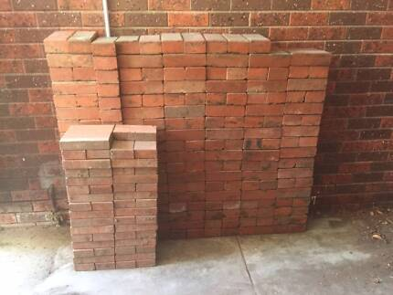RED BRICK PAVERS - ALMOST 300 FOR $60
