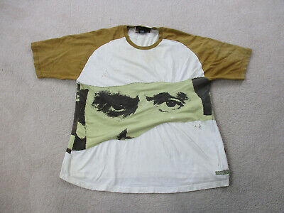 VINTAGE Scarface Shirt Adult 2XL XXL White Brown TV Show Movie Mens 90s *