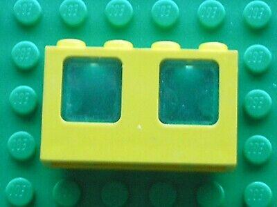 LEGO Yellow Window 1x4x2 Plane Trans-Light Blue Glass Ref 4863c01 Set 6697 6552