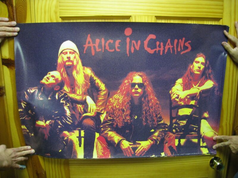 Alice in Chains Poster Band Shot Sitting on Chairs