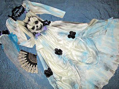 Victorian Day of the Dead corpse bride wedding dress COSTUME Mardi Gras - Day Of The Dead Bride Costumes