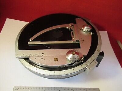 Zeiss Germany Table Stage Pol Polarizer Rotatable Microscope Part As Pic 13-50