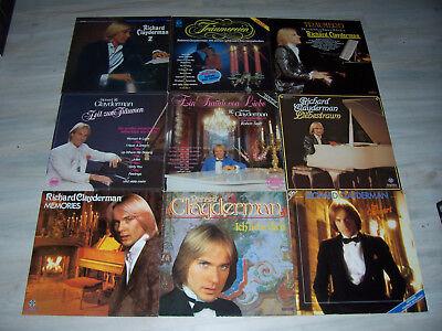 Gute Richard Clayderman - Sammlung No. 2 mit 10 verschiedenen LPs !  Mit Liste !