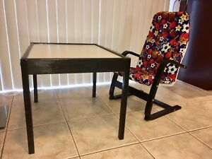 IKEA kids table and arm chair