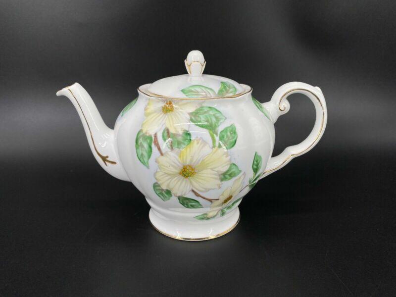 Tuscan C9790 Dogwood Teapot Bone China England