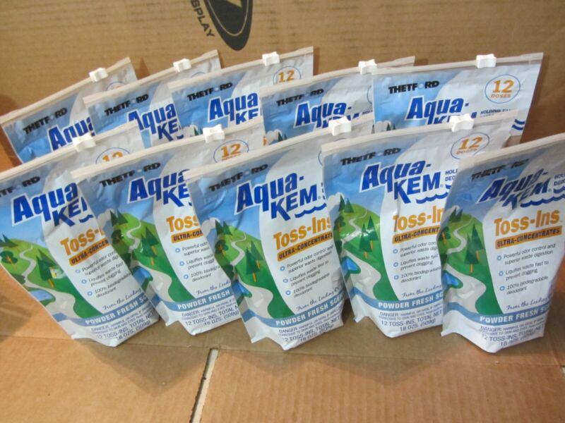 Lot (10) 12-pack Aqua-Kem campa chem fresh Thetford RV Toss-Ins 120 total doses!
