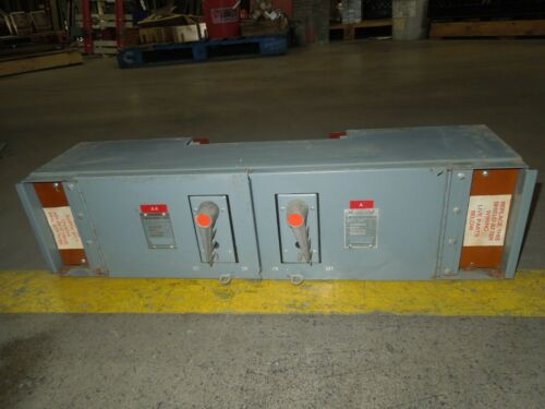 Fpe Qmqb1136 100/100a 3p 600v Twin Fusible Switch Unit Used