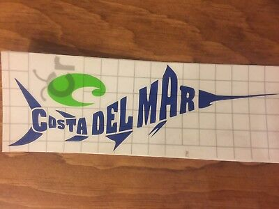Costa Del Mar - Marlin Decal Sticker - Custom Multi-Color for (Custom Costa Del Mar)
