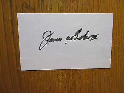"JAMES  BAKER III (Sec. of the Treasury/Sec. of State) Signed 3"" x 5""  Index Card"