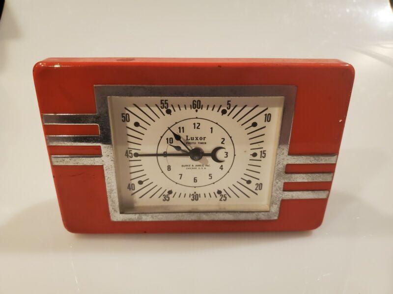 Vintage Red Luxor Photo Timer...works great!  Nice Shape.
