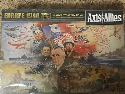 AXIS & ALLIES Europe 1940 Second Edition Board Game NEW SEALED WWII Strategy