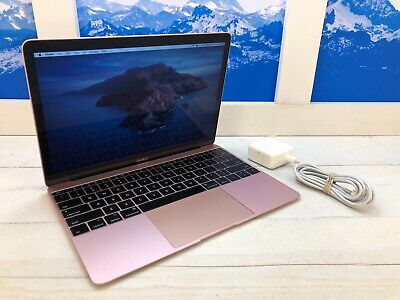 "Apple MacBook Retina 2017 12"" Laptop 512GB 1.3GHz 16GB RAM Rose Gold 291 cycles"
