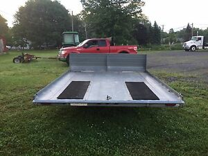 Double snowmobile/atv trailer