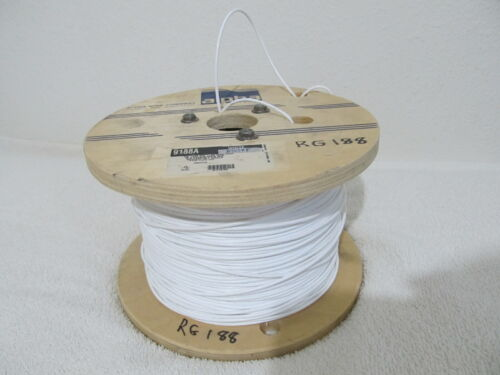 ALPHA 9188A WH005 CABLE COAXIAL RG188A 25AWG White - 850 feet ft. Roll Spool