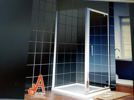 New frameless 760mm pivot door shower screen enclosure 900x 1900