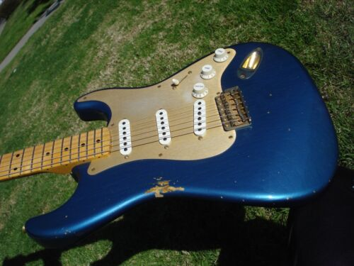 Fender Custom Shop 1956 56 Relic Stratocaster Lake Placid Blue Anodized Guard