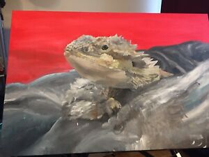Fancy Bearded dragon painting (soon to be completed)