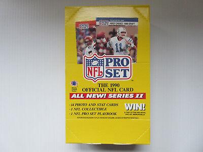Set Series 2 Football Box - 1990 Pro Set Football Series 2 ~ 540 cards ~ EMMITT SMITH ROOKIE ~ free shipping