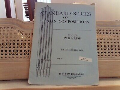 Bach: Jig Fugue in G Major,  Organ (Gray)